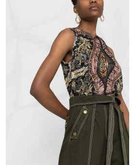 Paisley Patterned Print Top