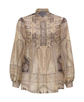 Paisley Print Buttoned Shirt