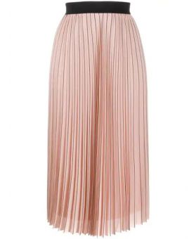 Pin Stripe Pleated Skirt