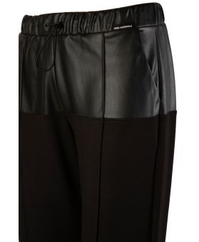 Faux Leather Jersey Pants