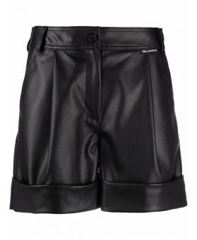 Woman Faux Leather Shorts