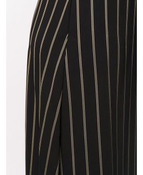 Pinstriped Print Dress