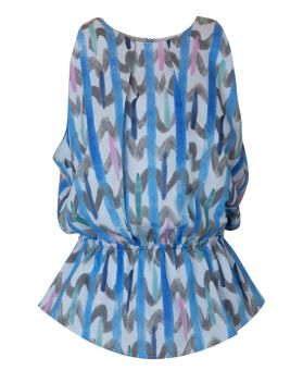 Brushed Chevron Print Top