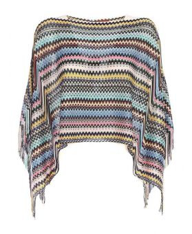 Multicolored Knitting Poncho