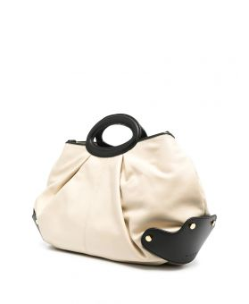 Two-Tone Slouchy Tote Bag