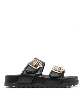 Double Strap Footbed Sandals