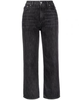 High-Waisted Cropped Jeans