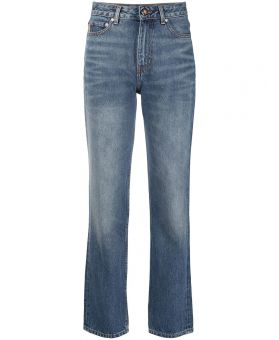 High-Waisted Straight-Leg Jeans