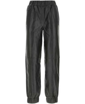 Leather Tapered Fit Trousers