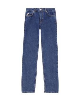 Mid Rise Straight Jeans