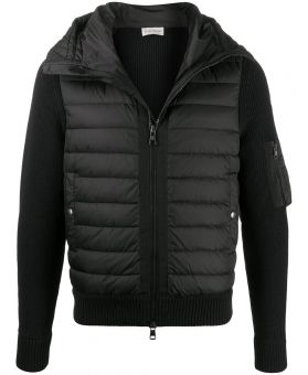 Man Padded-Front Hooded Jacket