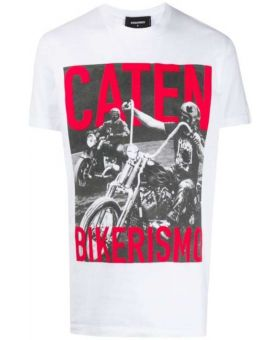 Caten Bikerismo Print T-Shirt
