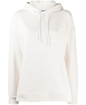 Embroidered Logo Drawstring Hooded