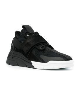 Touch-Strap High-Top Sneakers