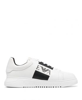 Logo Band Leather Sneakers