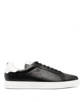 Leather Perforated-Logo Trainers